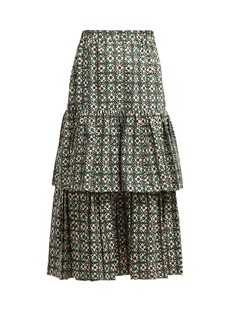 Golden Goose Deluxe Brand Floral-print gathered tiered skirt