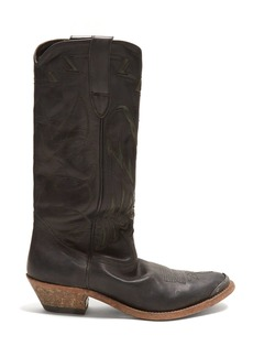 Golden Goose Deluxe Brand Flying distressed-leather knee boots