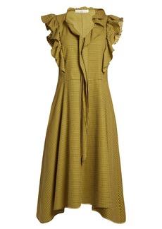 Golden Goose Deluxe Brand Gina ruffle-trimmed gingham midi dress