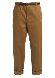 Golden Goose Deluxe Brand Golden cotton-twill cropped chino trousers