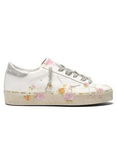 Golden Goose Deluxe Brand Hi Star floral leather low-top trainers
