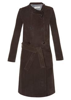 Golden Goose Deluxe Brand High-neck suede trench coat