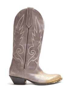 Golden Goose Deluxe Brand Kidman distressed-leather knee boots