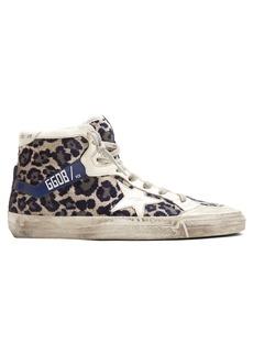 Golden Goose Deluxe Brand Leopard-print velvet high-top trainers