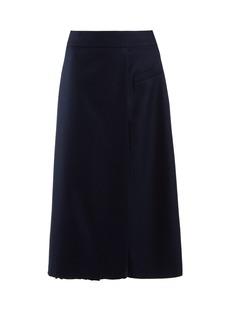Golden Goose Deluxe Brand Maloja A-line wool-blend twill skirt