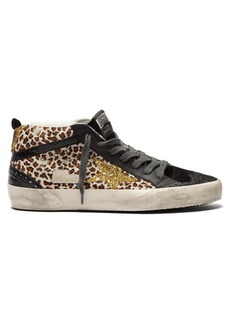 Golden Goose Deluxe Brand Mid Star mid-top leather and calf-hair trainers
