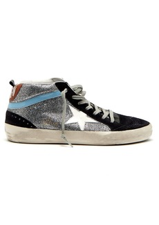 Golden Goose Deluxe Brand Midstar glitter and suede trainers