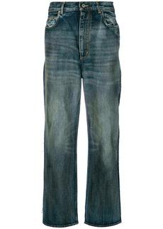 Golden Goose Deluxe Brand oil wash boyfriend jeans - Blue