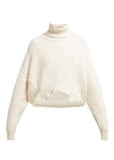 Golden Goose Deluxe Brand Oversized roll-neck cotton and wool-blend sweater