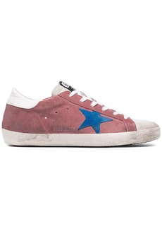 Golden Goose Pink Superstar Suede sneakers