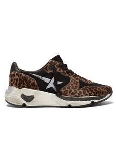 Golden Goose Deluxe Brand Running Sole leopard-print trainers