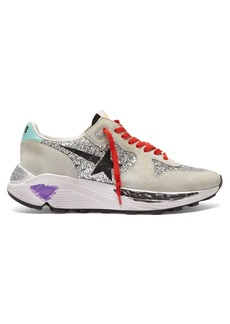 Golden Goose Deluxe Brand Running Sole low-top glitter and suede trainers