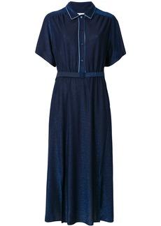 Golden Goose Deluxe Brand short sleeve belted dress - Black