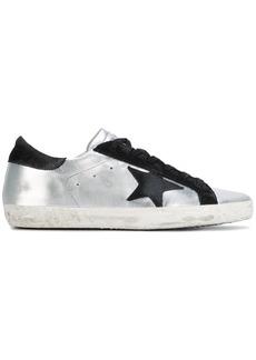 Golden Goose Silver Black Superstar Leather sneakers