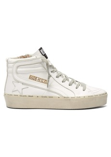 Golden Goose Deluxe Brand Slide high-top leather trainers