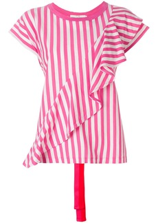 Golden Goose Deluxe Brand striped ruffle blouse - Pink & Purple