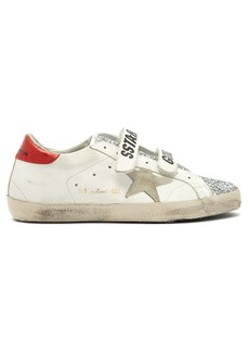Golden Goose Deluxe Brand Super Star glitter and leather trainers