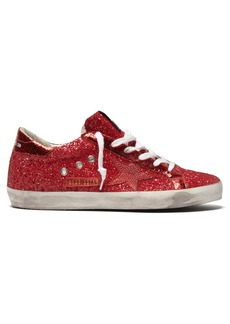 Golden Goose Deluxe Brand Super Star glitter low-top leather trainers