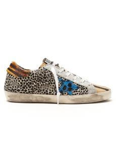 Golden Goose Deluxe Brand Super Star leopard-print low-top trainers