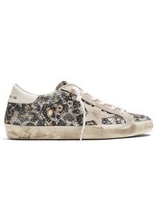 Golden Goose Deluxe Brand Superstar glitter leopard low-top trainers