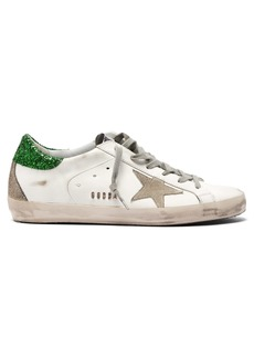 Golden Goose Deluxe Brand Superstar glitter low-top leather trainers