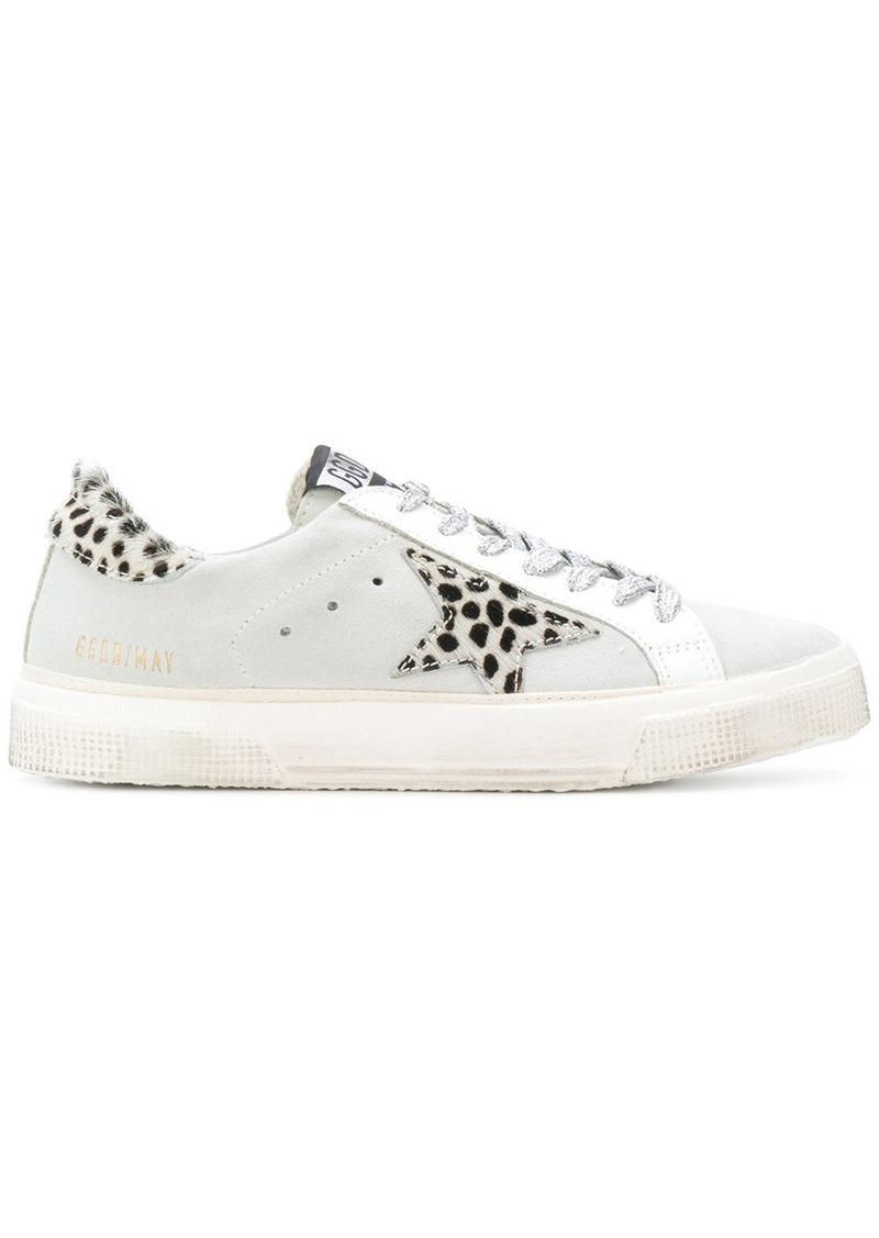 Golden Goose Deluxe Brand May leopard sneakers - Grey
