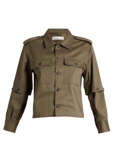 Golden Goose Deluxe Brand Tina detachable-sleeve cotton-twill shirt