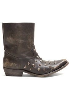 Golden Goose Deluxe Brand Tribute studded leather ankle boots