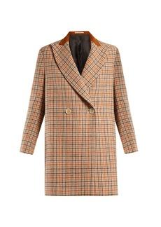 Golden Goose Deluxe Brand Vanda double-breasted checked wool coat