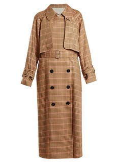 Golden Goose Deluxe Brand Vela checked double-breasted trench coat