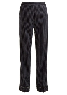 Golden Goose Deluxe Brand Venice pinstriped wool and silk-blend trousers