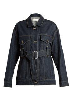 Golden Goose Deluxe Brand Viola waist-belt denim jacket