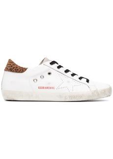 Golden Goose white leopard Superstar sneakers