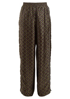 Golden Goose Deluxe Brand Wide-leg geometric-jacquard trousers