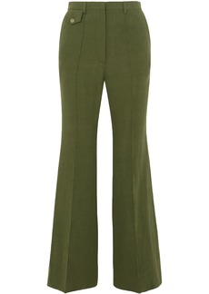 Golden Goose Deluxe Brand Woman Agata Linen Flared Pants Leaf Green