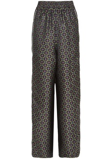 Golden Goose Deluxe Brand Woman Jacquard Wide-leg Pants Army Green