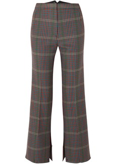 Golden Goose Deluxe Brand Woman Rendena Cropped Checked Wool Wide-leg Pants Brick