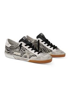 Golden Goose Deluxe Brand Women's Super-Star Zebra Print Calf Hair Low Top Sneakers