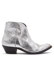 Golden Goose Deluxe Brand Young distressed-leather cowboy ankle boots