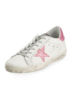 Golden Goose Distressed Leather Low-Top Sneakers