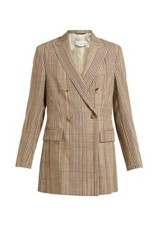 Golden Goose Double-breasted checked longline blazer