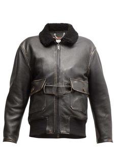 Golden Goose Erika distressed belted leather jacket