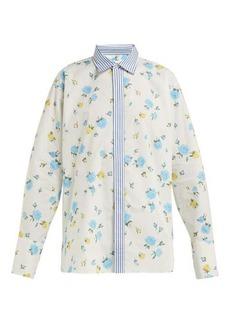 Golden Goose Floral-print cotton-poplin shirt