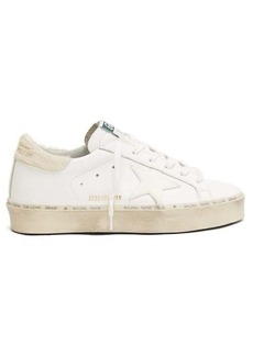 Golden Goose Hi Star calf-hair trimmed leather trainers