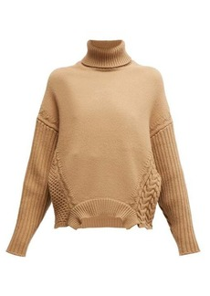 Golden Goose Roll-neck cable-knit wool sweater