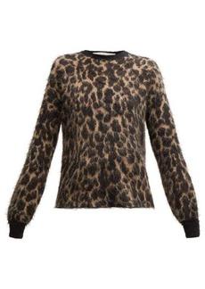 Golden Goose Leopard-jacquard mohair sweater