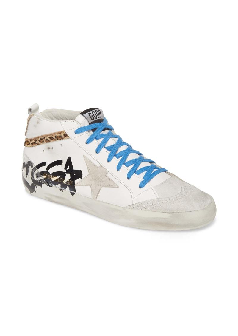 Golden Goose Midstar Graffiti Logo Sneaker