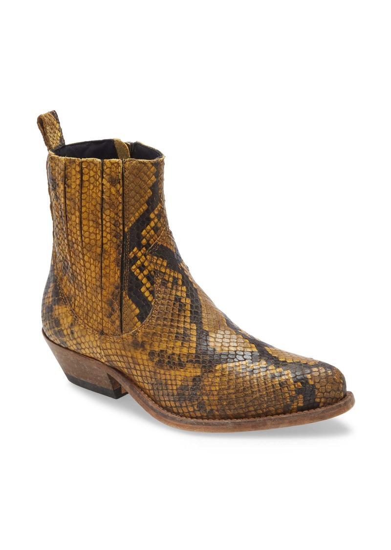 Golden Goose Santiago Snake Embossed Western Boot (Women)