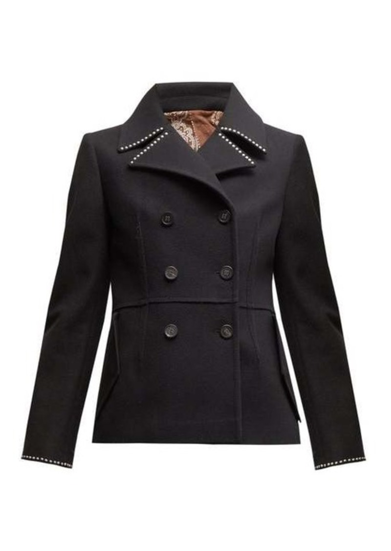 Golden Goose Studded double-breasted wool-blend pea coat
