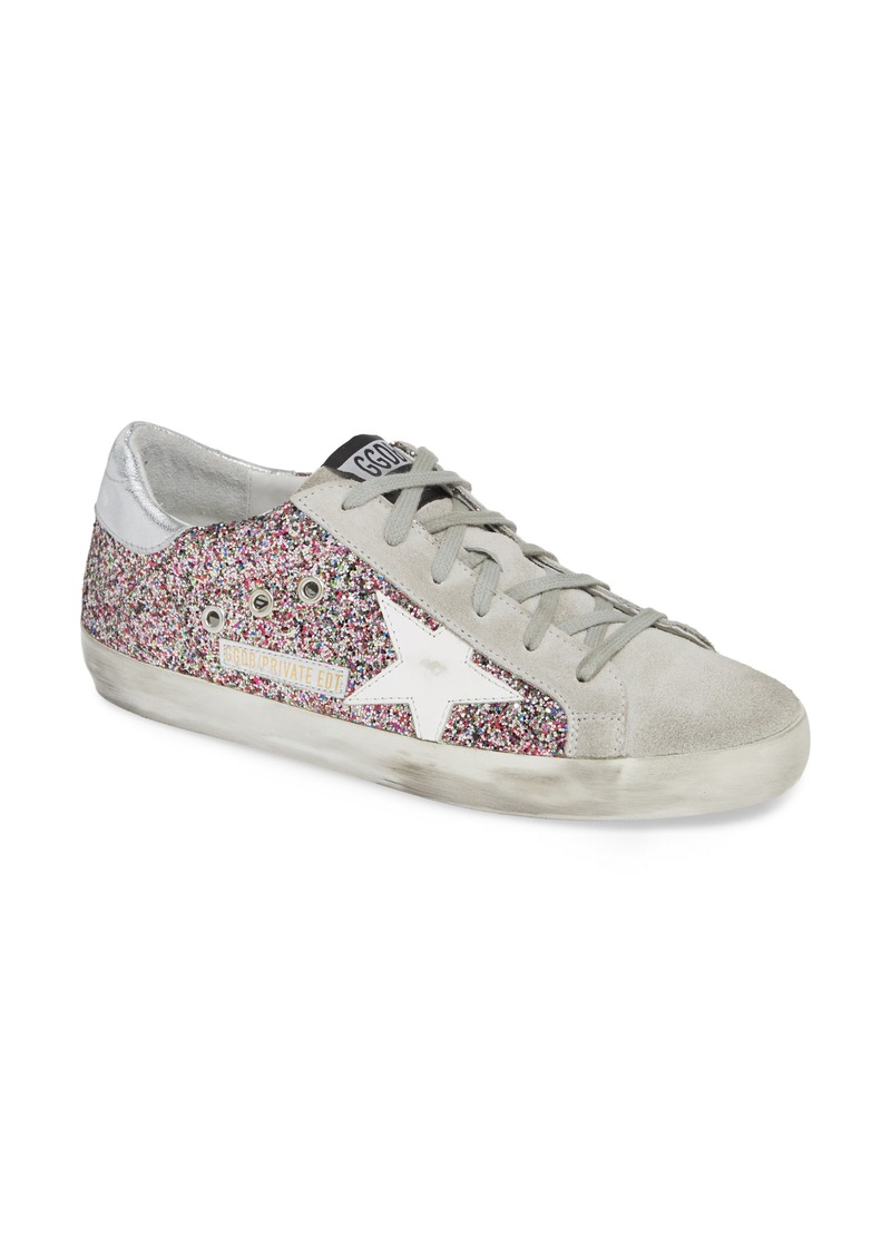01831525206 Golden Goose Superstar Glitter Sneaker (Women) (Nordstrom Exclusive)